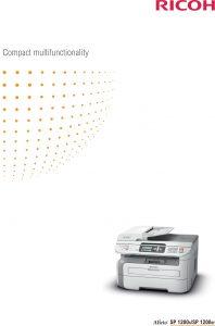 Ricoh SP1200s Brochure image