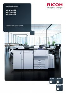 MP6503SP MP7503 MP9003 Brochure image