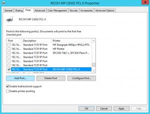 Update Printer Driver IP Address (Windows)
