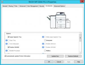 Update Ricoh Printer Accessories (Windows)